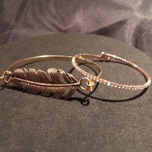 Jewelry - Rose gold bangle bracelets